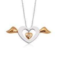 Altınsepeti Altın Pırlantalı Meleğim Kalp Kolye Pkl1187