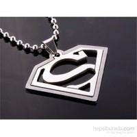 Takıcadde Superman Double Katman Çelik Kolye