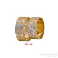 Arjuna Gümüş Tek Taş El İşi Çift Alyans Al1081
