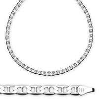 Tesbihane : 925 Ayar Gümüş 50 Cm 14 Gr Barlı Erkek Zincir Kolye