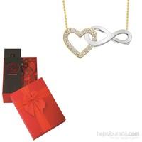 Melis Gold Sevgiliye Özel Altın Sonsuzluklu Kalp Kolye HP0084 + PARFÜM HEDİYE!!