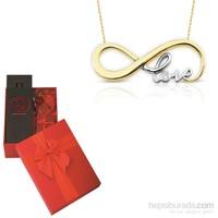 Melis Gold Sevgiliye Özel Altın Love Kolye HP0085 + PARFÜM HEDİYE!!