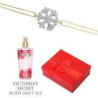 Melis Gold Altın Kartanesi Bileklik Hp0140 + Victoria's Secret Body Mist ile