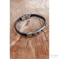 Morvizyon Yıldız Figürlü Çelik Kaplama Erkek Bileklik -126