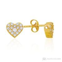 Bella Gloria Kalp Altın Küpe (Pe78137)