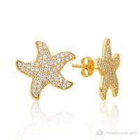 Bella Gloria Deniz Yıldız Altın Küpe (Pe78196)