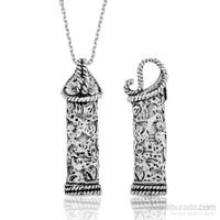 Tekbir Silver Gümüş Sarmaşık Desenli Cevşen Kolye
