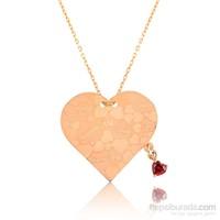 Tekbir Silver Gümüş Kalp Aşk Sözleri Kolye