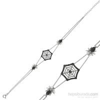 Gumush Gümüş Örümcek Ağı Bileklik