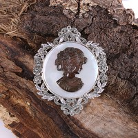 Sanal Kuyumculuk 925 Ayar Gümüş El İşçiliği Broş Ve Kolye Ucu