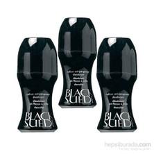 Avon Black Suede Erkek Roll On 3Lü Avantaj Seti