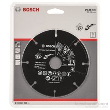 Bosch - Carbide Multiwheel, Taşlama Makineleri İle Ahşap Ve Plastiği Güvenli Kesme Bıçağı 125Mm