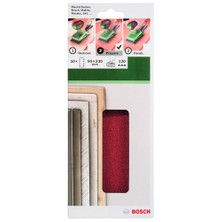 Bosch - Titreşimli Zımpara Kağıdı 10'Lu, 93 X 230 Mm 120 Kum 8 Delik