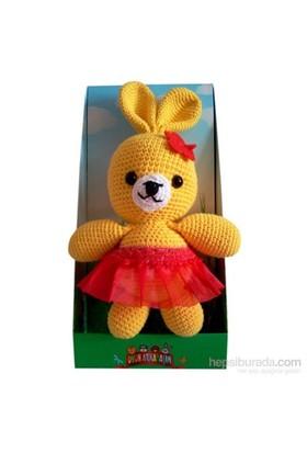 Damla Oyuncak Sarı Tavşan Amigurumi Örgü Oyuncak