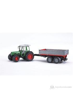 Bruder Fendt 209 S Traktör & Kırmızı Römork 02104