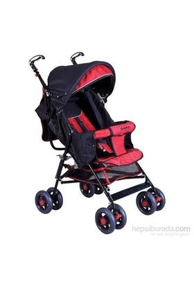 Baby Hope Sa7 Baston Bebek Arabası Kırmızı Siyah