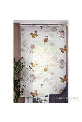 Comforsun Desenli Stor Perde Kelebeklerin Dansı 130x200