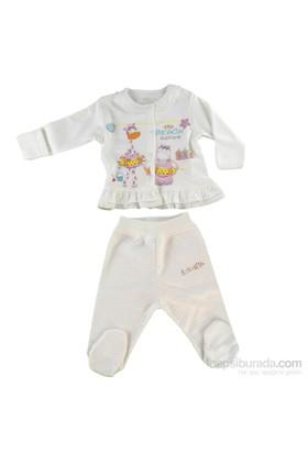 Aziz Bebe İkili Takım Ekru