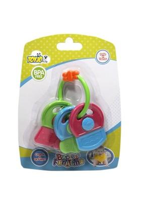 Toyjo Baby Diş Kaşıyıcılı Anahtarlık Çıngırak Seti
