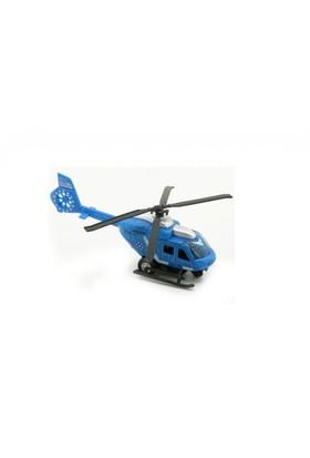 Kızıl Kaya Metal Çek Bırak Helikopter Mavi 1:43