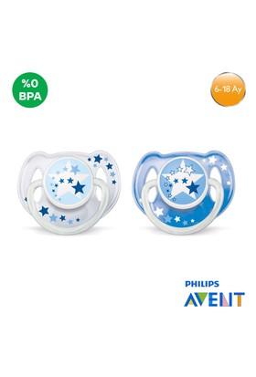 Philips Avent SCF176/62 0% BPA Yalancı Emzik 6-18 Ay (Karanlıkta Parlar,2'li)
