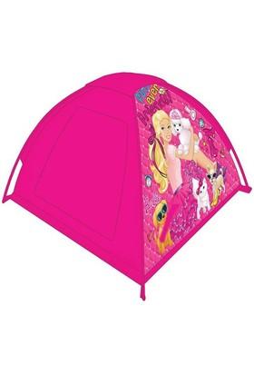 Barbie Çantalı Çadır Pembe