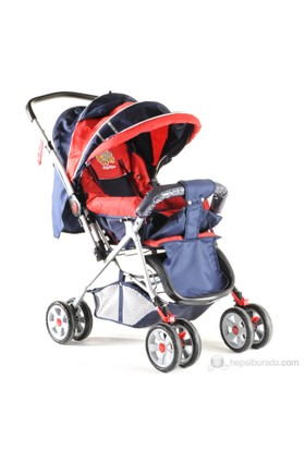 Baby Keeper Power Çift Yönlü Bebek Arabası / Kırmızı-Lacivert