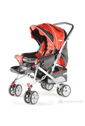 Baby Keeper Elegant Çift Yönlü Bebek Arabası / Kırmızı-Siyah