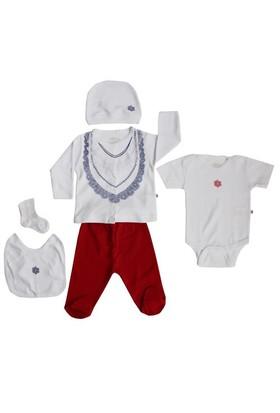 Aziz Bebe Altılı Hastane Çıkışı Beyaz-Kırmızı