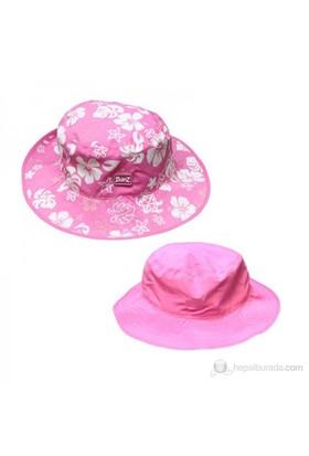 Baby Banz Pembe Bahçe Çift Taraflı Şapka Unisex