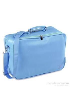 Pirulos Anne Bebek Suni Deri Çanta Bavul / Mavi