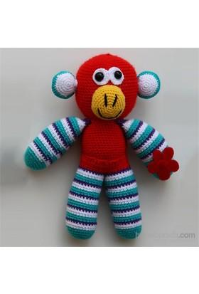 Damla Oyuncak Oyun Arkadaşım Kırmızı Maymun