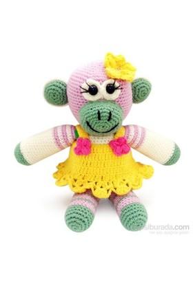 Damla Oyuncak Maymun Amigurumi Örgü Oyuncak