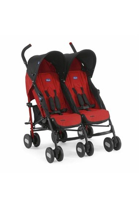 Chicco Echo Twin İkiz Baston Bebek Arabası / Garnet