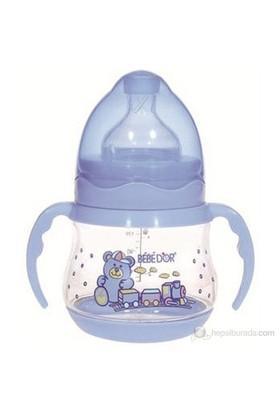 Bebedor Geniş Ağız Kulplu Biberon 150ml / Mavi