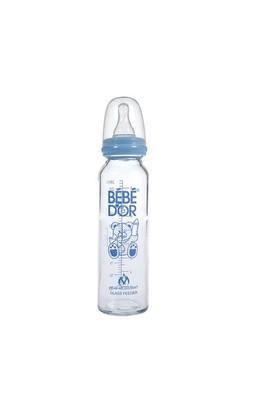 Bebedor Orta Akış Isıcam Biberon (250 ml) / Mavi