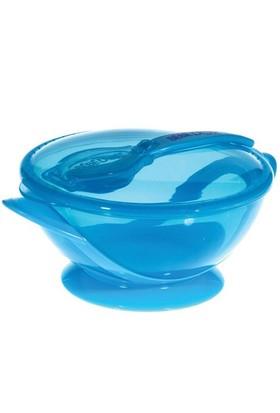 Bebedor Vakumlu Tabak & Kaşık Set / Mavi