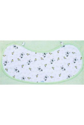 Mycey Omuz Örtüsü / Bebe Önlüğü Müslin Kumaş - Starbird Yeşil