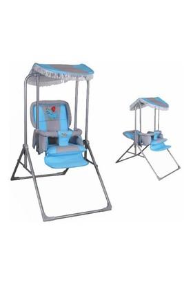 Pasha Baby Tam Yatabilir & Katlanabilir Lüks Salıncak Gri Mavi (0 60Kg Taşıma Kapasiteli)
