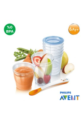Philips Avent SCF720/10 VIA Gurme Mama Seti 10x180ml + 10x240ml