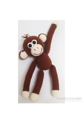 Damla Oyuncak Amigurumi Örgü Oyuncak Maymun