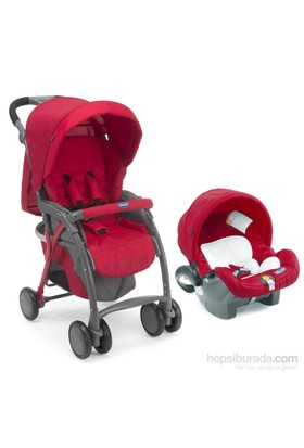 Chicco Duo Simplicity Plus Travel Sistem Bebek Arabası / Keyfit Red