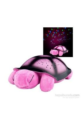 Hepsi Dahice Renk Değiştiren Müzikli Kaplumbağa Projeksiyon Gece Lambası Pembe