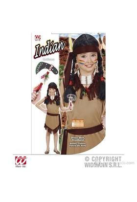 Kızılderili Kız Çocuk Kostüm (11-13 Yaş)