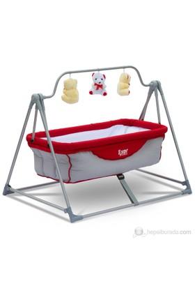Exorbaby Portatif Bebek Beşiği - Hamağı / Kırmızı-Gri
