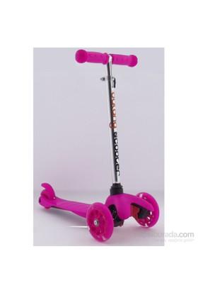3 Teker Işıklı Küçük Mıcro Style Scooter Pembe