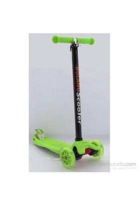 3 Teker Işıklı Büyük Mıcro Style Scooter Yeşil