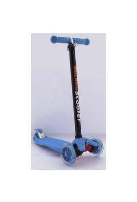 3 Teker Işıklı Büyük Mıcro Style Scooter Mavi