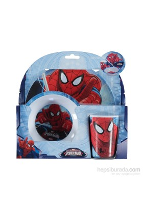 Disney Spiderman Melamin 3'Lü Beslenme Seti