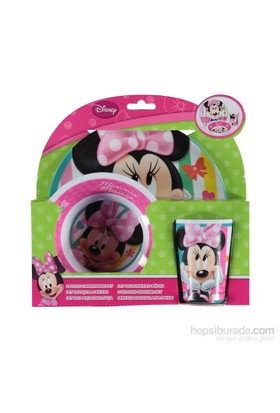 Disney Minnie Mouse Melamin 3'Lü Beslenme - MamaSeti